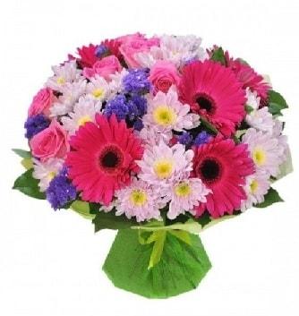 Karışık mevsim buketi mevsimsel buket  Sivas çiçek yolla