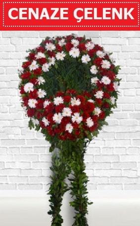 Kırmızı Beyaz Çelenk Cenaze çiçeği  Sivas yurtiçi ve yurtdışı çiçek siparişi