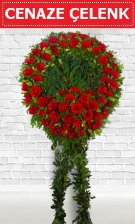 Kırmızı Çelenk Cenaze çiçeği  Sivas yurtiçi ve yurtdışı çiçek siparişi