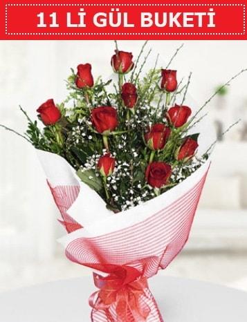 11 adet kırmızı gül buketi Aşk budur  Sivas online çiçekçi , çiçek siparişi