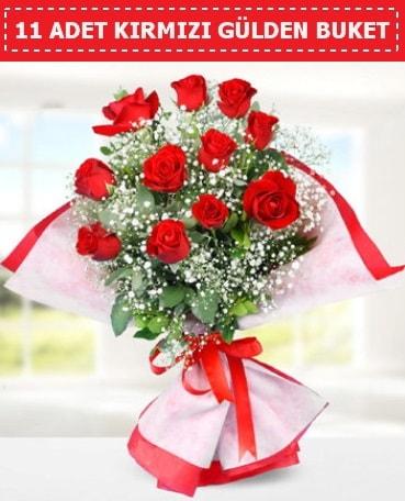 11 Adet Kırmızı Gül Buketi  Sivas çiçek siparişi sitesi