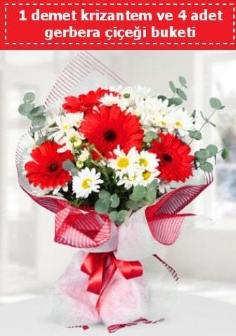 Krizantem ve Gerbera Buketi  Sivas ucuz çiçek gönder