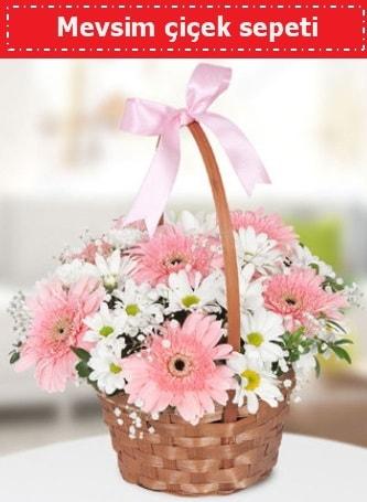 Mevsim kır çiçek sepeti  Sivas çiçek gönderme