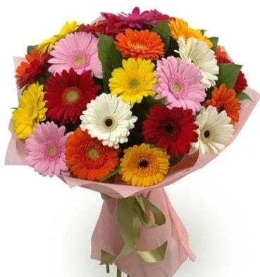 Karışık büyük boy gerbera çiçek buketi  Sivas çiçek yolla