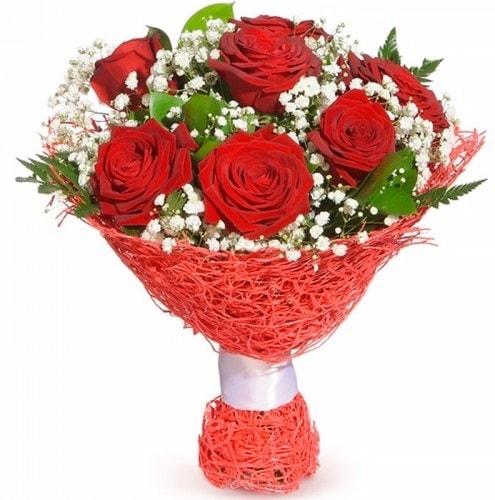 7 adet kırmızı gül buketi  Sivas çiçekçi mağazası